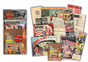 1950s Childhood Memorabilia Gift Pack with over 20 pieces of Replica Artwork
