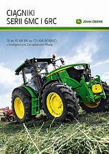 John Deere 6MC & 6RC 04 / 2016 catalogue brochure tracteur Traktor