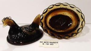Boyd Crystal Art Glass - Vintage Chick Salt  #50 Molasses - 1st Generation
