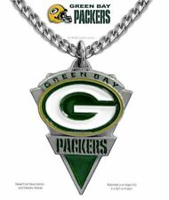 GREEN BAY PACKERS STAINLESS STEEL CHAIN NECKLACE NFL FOOTBALL - FREE SHIP  CA Z'