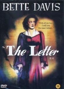 The Letter - a Bette Davis classic - Region 2 DVD Mint crime/ romance thriller