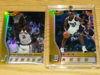 1996-97 Bowman's Best REFRACTORS Larry Johnson & Vin Baker 2 Card Lot $$$$$$$$$$