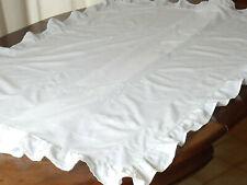 ancienne taie d'édredon blanche ou housse d'édredon brodée