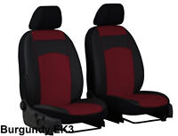 """VOLKSWAGEN T4 1989-2003 ECO LEATHER FRONT UNIVERSAL SEAT COVERS """"burgundy"""""""