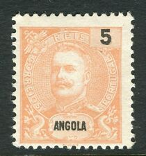 PORTUGUESE ANGOLA;  1898 early Carlos issue Mint unused 5r. value