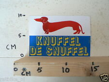 STICKER,DECAL KNUFFEL DE SNUFFEL TEKKEL HOND DOG
