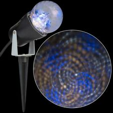 Nib. Lightshow Projection Blue/White/Classic White Swirls. Indoor/Outdoor use.