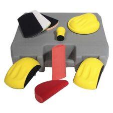Handschleifer 10erSet Schleifklotz Koffer Autolack Schleifpapier Schleifscheiben