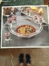 Crystal Clear Game Night Roulette Drinking Shots Game 6 shot glass