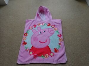 Child's Peppa Pig Pink Towelling Hooded Towel Ideal for Bath Swimming etc NCC