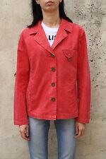 M&N Murphy & Nye Sailmakers Chicago Yatching Blazer Sailor Cotton Jacket Red L