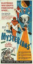 THE MYSTERIANS original large 1957 TOHO SCI-FI 3-sheet movie poster KENJI SAHARA