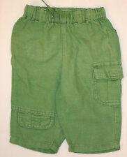 Hose 3/4 Hose Leinenhose in grün mit seitlicher Tasche für Baby´s Größe 68