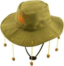 FANCY DRESS AUSTRALIAN OUT BACK BUSH HAT WITH CORKS  PARTY ACCESSORY GREEN KHAKI
