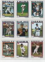2004 Topps Baseball Team Sets **Pick Your Team**
