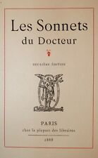 1888 Les Sonnets du Docteur Félicien Rops Ex. Japon tiré à 100 ex. bibliophilie