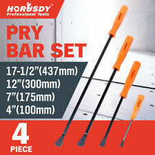 "4pc Mechanics Pry Bar Set Neon Handle Heavy Duty 4""  7""  12""  17 1/2"" New Tools"