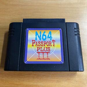 Nintendo 64 N64 Passport Plus III 3 Cheat Cartridge & Region Adapter NTSC PAL