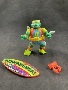 Vintage TMNT 1990 MIKE THE SEWER SURFER Teenage Mutant Ninja Turtles Incomplete