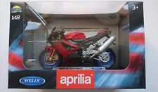 WELLY APRILIA RSV 1000 R 1:18 DIE CAST MODEL NEW IN BOX LICENSED MOTORCYCLE
