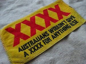 Used CASTLEMAINE XXXX Lager Bar Towel