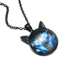 Fashionable Vintage Male Nordic Wiccan Wolf Head Necklaces New Chain Jewelry