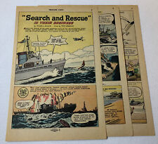 1967 six page cartoon story ~ Search and Rescue ~ Coast Guard