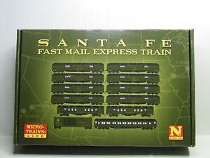 MICRO-TRAINS N SCALE SANTA FE FAST MAIL EXPRESS TRAIN 99302050