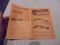 Petit Catalogue des Anciens Fusils de Chasse  et Munitions Reinor 1965