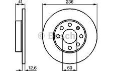 BOSCH Juego de 2 discos freno Antes 236mm OPEL ASTRA CORSA VECTRA 0 986 478 081