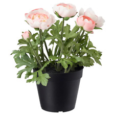 Artificial potted plant, in/outdoor, Ranunculus pink, 12 cm