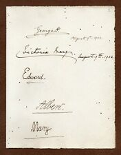 3 KINGS SIGNED George V EDWARD VIII when 7 years old GEO. VI + 2 CORONATION DAY