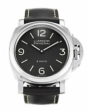 Panerai Luminor Base 8 Days Acciaio 44MM Leather Men's Watch PAM00560