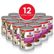 Hill's Science Diet Canned Dog Food, Adult 7+, Savory Stew with Beef & 12.8 oz,