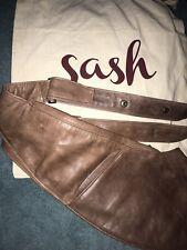 Sash Bag Crossbody Leather Travel Organizer Brown