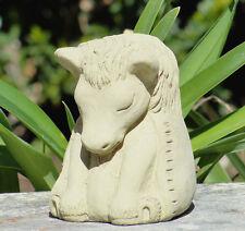 SMALL MEDITATING HORSE Original Outdoor Stone Buddha Statue Animal Zen Figure (C
