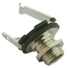 6.35mm Panel mount Open Jack Socket Connector (2 Pack)