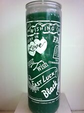 WISH / WISHING 7 DAY UNSCENTED GREEN CANDLE IN GLASS