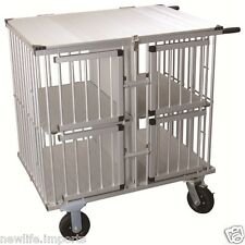 AEOLUS Pro 4-Berth Aluminium Dog Show Trolley - Large (Silver)