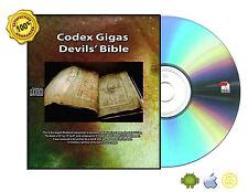 Codex Gigas (Zatan, Lucifer, Evil, Ghost, Spirits,) Devils' Bible Book On CDROM