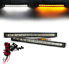 2x 12 LED Turn Signal Head Lamp DRL Daytime Running Light Daylight Car Truck 12V