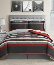 Fairfield Square Austin 8 Pc Reversible King Comforter Set Red $100