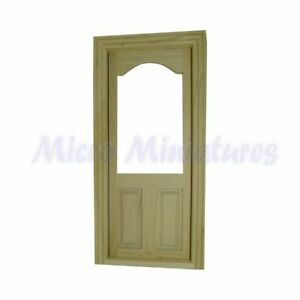 Dolls House Wooden Glass Pane Door 1/12th Scale (00513)