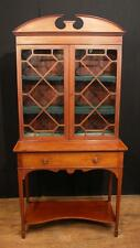 Antique Edwardian Sheraton China Cabinet Bookcase