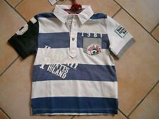 (C231) RARE -The Kid Boys Polo Shirt mit Stickerei Aufnähern & Logo Druck gr.92