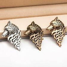 Collar Men Gifts por Pin Je H6L3 5 Pcs/Set Vintage Alloy Wolf Head Brooches Suit