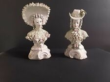 Corday twin colonial style porcelain busts