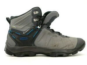Keen Mens Venture Mid Gray Nylon WP Outdoor Hiking Work Boots Shoes US 12 EU 46
