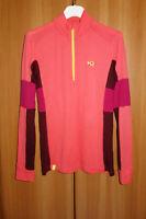 Kari Traa zip neck 100% merino wool base layer top sweater size XL