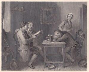 """""""THE VILLAGE GLEE SINGERS"""" Stst. von T.E.Nicholson nach J.M.Wright um 1820"""
